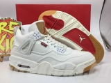 Super Max Perfect Levis x Air Jordan 4 White-SY