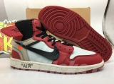 Super Max Perfect OFF-WHITE x Air Jordan 1 Men Shoes -JB (2)