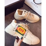 Super Max Perfect Gucci leather sneaker Men And Women Shoes(98%Authenic)-WX (61)
