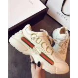 Super Max Perfect Gucci leather sneaker Men And Women Shoes(98%Authenic)-WX (63)