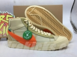 "Authentic  OFF-WHITE x Nike Blazer ""All Hallows Eve""Men And Women Shoea -ZL"