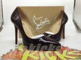 CL 12 cm wine red patent leather shoes AAA
