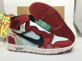"(Best Version,OG Quality)Authentic Air Jordan 1 ""xOFF-WHITE"" -ZL"