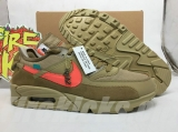 (H12 version)OFF-WHITE x Authentic Nike Air Max 90 Men Shoes-ZL
