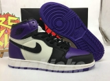 "Perfect  Air Jordan 1 ""Court Purple""Women Shoes -SY"
