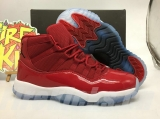"Super Max Perfect Air Jordan 11""Gym Red""GS (with original carbon fiber)"