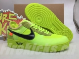 "(Final BC Version)Authentic Nike Air Force 1""Volt""x OFF-WHITE Men And Women Shoes-Dong"