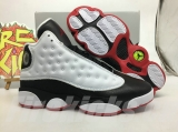 Super Max Perfect Air Jordan 13 Women White Black