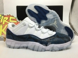 "Super Max Perfect Air Jordan 11 Low ""Navy Snakeskin"" Men Shoes - SY"