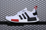Super Max Perfect Originals NMD R1 White Black Red Men and Women shoes(98%Authentic)-JB  (1)