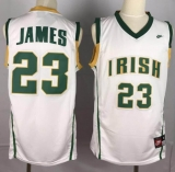 Miami Heat #23 LeBron James White Irish High School Stitched NBA Jersey