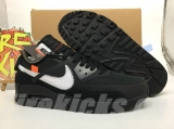 "(Final version)OFF-WHITE x Authentic Nike Air Max 90 ""Black"" Men Shoes-Dong"
