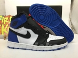 (Final version)Authentic Air Jordan 1 Retro High OG Black White Blue -ZLDG