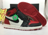 "(Final version)Authentic Air Jordan 1 ""Bred Toe""-ZLDG"