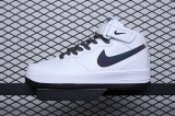 Nike Super Max Perfect Air Force 1 Mid '07 LV8'White/Black Static Men And Women Shoes (98%Authentic)-JB (340)