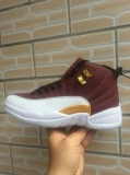 "Air Jordan 12 ""Brown and white""  AAA Men Shoes - SY (72)"