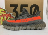"(Better quality)Super Max Perfect Adidas Yeezy 350 Boost V2""GreyOrange""Men And Women Shoes(95%Authentic) -ZL"