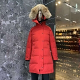 Canada Goose Down Jacket 15 With Removable Real coyote fur ruff Women-BY (78)