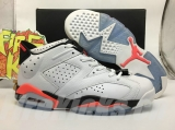 "Super Max Perfect Air Jordan 6 Low ""White/Infrared"""