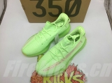 "Super Max Perfect Adidas Yeezy Boost 350 V2 ""Glow In The Dark"" Men And Women Shoes(98%Authentic)-LY"