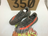"Super Max Perfect Adidas Yeezy 350 V2 Boost SPLY-350 ""Grey/Orange -LY"
