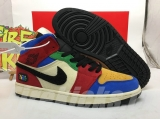 "Blue The Great x Super Max Perfect Air Jordan 1 ""Fearless""Men Shoes -ZL"