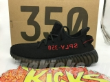 "(Better quality)Super Max Perfect Adidas Yeezy 350 Boost V2 ""Bred"" Men And Women Shoes(95%Authentic) -ZL"