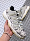 "(SALE)Super Max Perfect Air Jordan 11 Low Snakeskin ""Light Bone"" Men Shoes(98%Authentic) -Dong"