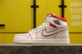 "(better quality)Super Max Perfect Air Jordan 1""Sail/University Red""Men And Women Shoes(no worry!good quality,95%Authentic) -GET"