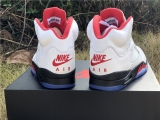"2020.01 Authentic Air Jordan 5 ""Fire Red"" Women Shoes -ZL"