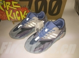 "2020.1 (Better quality)Super Max Perfect Adidas Yeezy 700 Boost ""Carbon Blue"" Men And Women Shoes (98%Authentic)-LY"