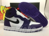 "(better quality)Super Max Perfect Air Jordan 1 ""Court Purple""Men And Women Shoes(no worry!good quality,95%Authentic) -GET"