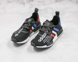 2020.03 atmos x Super Max Perfect Adidas Originals NMD_R1 Black Blue Red Real Boost Men And Women Shoes(98%Authentic)- LY (10)