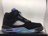 Nike Air Jordan 5 Men Shoes AAA -Black Grape