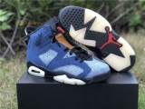 "2020.04 Super Max Perfect Air Jordan 6 ""Washed Denim"" Women shoes -ZL"