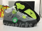 "Authentic Air Jordan 4 ""Neon""- ZL"