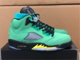 "2020.4 Super Max Perfect Air Jordan 5 ""Oregon Ducks"" Women Shoes -ZL"
