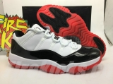 "2020.04 Super Max Perfect Air Jordan 11 Low ""White Bred""Men Shoes(98%Authentic) -LY"