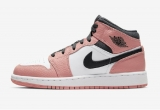 "2020.05 Normal Authentic quality and Low price Air Jordan 1 Mid ""Pink Quartz""  GS Shoes- LJR"
