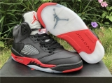 "2020.5 Super Max Perfect Air Jordan 5 ""Satin Bred"" Women Shoes -ZL"