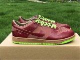 "2020.5 Authentic Nike SB Dunk Low 1-Piece Laser Varsity Red Chartreuse""Men And Women Shoes -ZL"