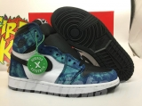 "2020.6 Authentic Air Jordan 1 High OG""Tie-Dye"" GS -ZLDG"