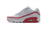 2020.07 Undefeated x Authentic Nike Air Max 90 White Red Men And Women Shoes-LY