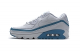 2020.07 Undefeated x Authentic Nike Air Max 90 White Blue Men And Women Shoes-LY