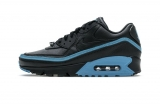 2020.07 Undefeated x Authentic Nike Air Max 90 Black Blue Fury Men And Women Shoes-LY