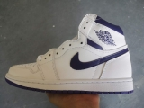 "2020.7 Normal Authentic quality and Low price Air Jordan 1 High ""Metallic Navy""Men And GS Shoes - LJR"
