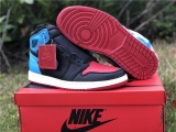 "(Final version)Authentic Air Jordan 1 "" UNC To Chicago"" GS- ZLDG"