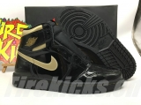 "2020.8 Normal Authentic quality and Low price Air Jordan 1 High  OG""Black/Metallic Gold""Men And GS Shoes - LJR"