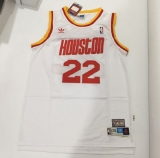 Mitchell and Ness Houston Rockets #22 Clyde Drexler Stitched White Throwback NBA Jersey