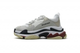 2020.8 Authentic Belishijia Triple S White Dark Grey Red Men And Women Shoes -LY (110)